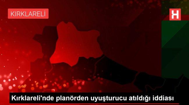 Kırklareli'nde planörden uyuşturucu atıldığı iddiası